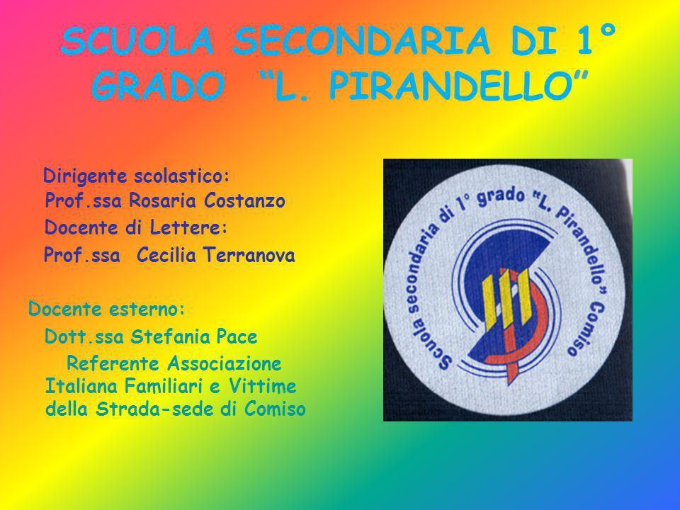 SCUOLA SECONDARIA DI 1° GRADO L. PIRANDELLO Dirigente scolastico: Prof.ssa Rosaria Costanzo Docente di Lettere: Prof.ssa Cecilia Terranova Docente est