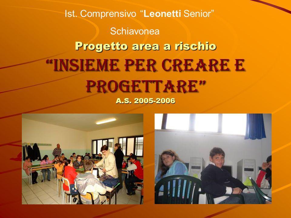 Progetto area a rischio Insieme per creare e progettare A.S. 2005-2006 Ist. Comprensivo Leonetti Senior Schiavonea