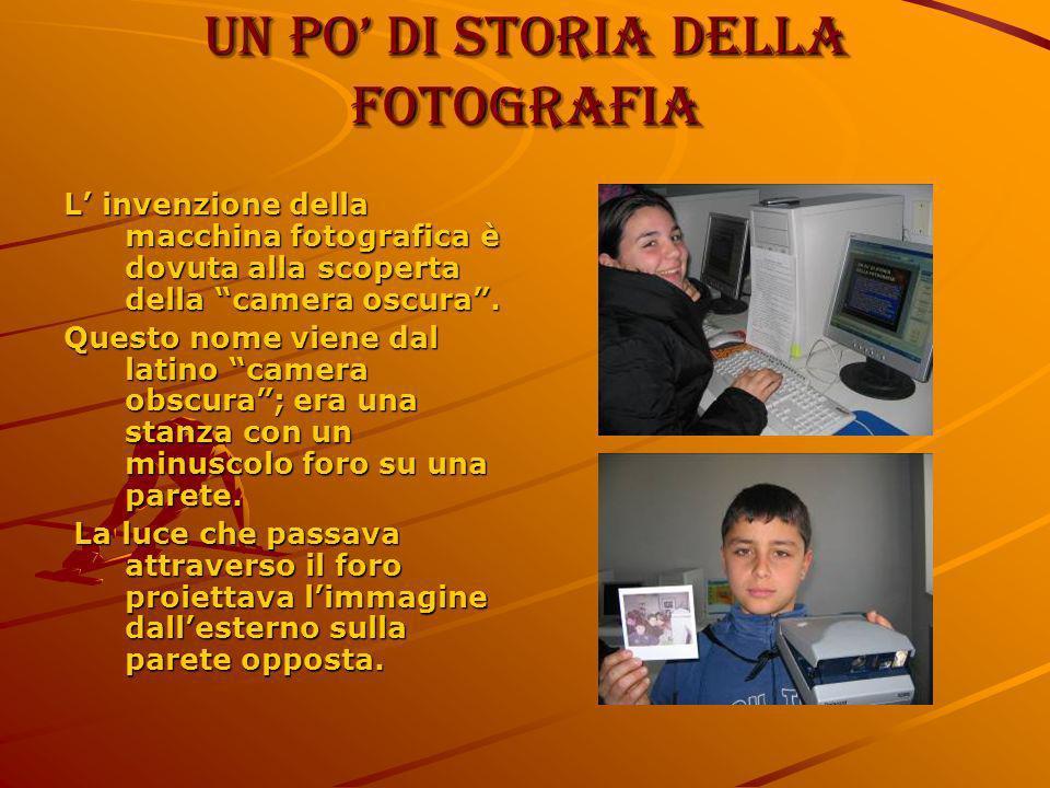 Un po di storia della fotografia L invenzione della macchina fotografica è dovuta alla scoperta della camera oscura. Questo nome viene dal latino came