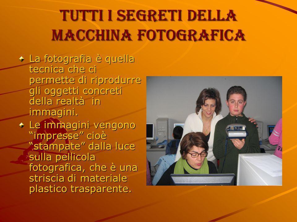 Tutti i segreti della macchina fotografica La fotografia è quella tecnica che ci permette di riprodurre gli oggetti concreti della realtà in immagini.