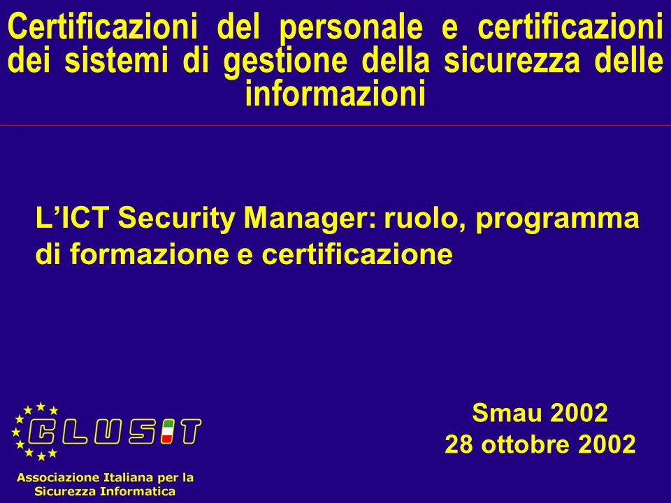 Alessandro Lega alessandro_lega@tin.it 2 From Effective Security Management by Charles A.