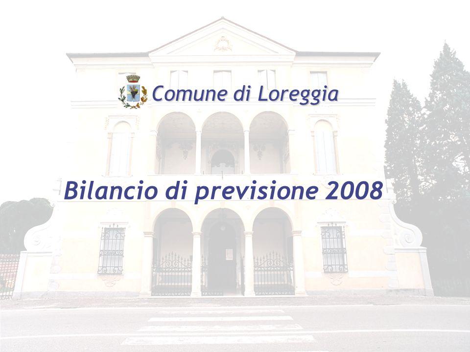 Bilancio di previsione 2008 Comune di Loreggia