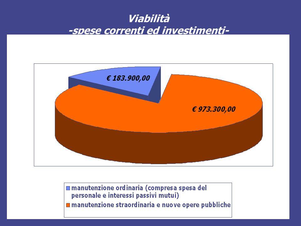 Viabilità -spese correnti ed investimenti-