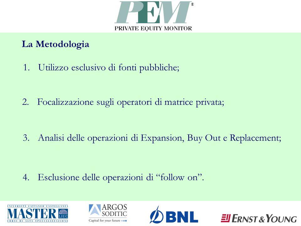 ® La Metodologia 4.Esclusione delle operazioni di follow on.