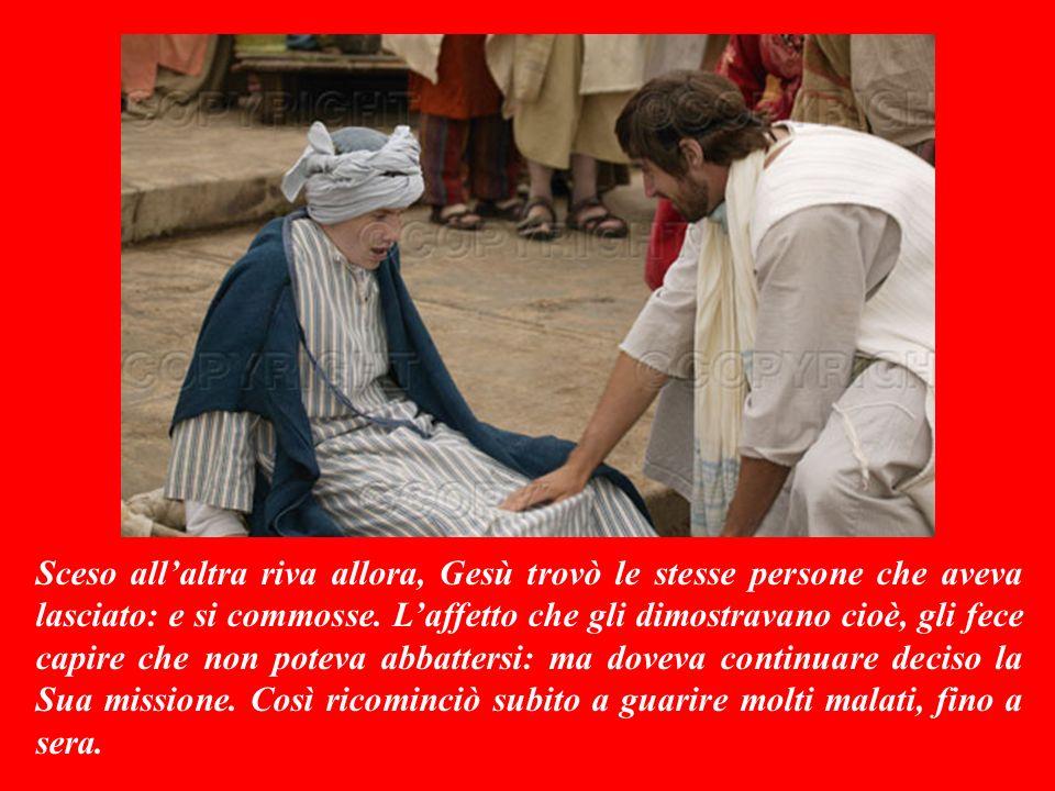 VANGELO (Mattèo 14,13-21) Quando venne a sapere della morte di suo cugino Giovanni Battista, Gesù si rattristò profondamente.