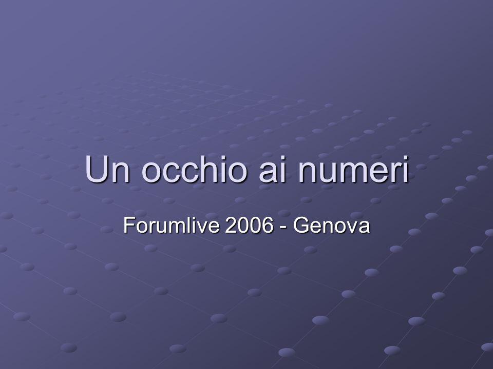 Un occhio ai numeri Forumlive 2006 - Genova