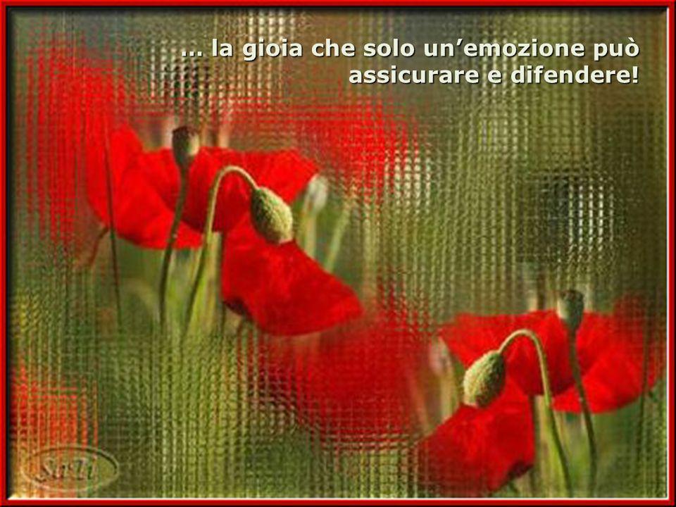 … la gioia che solo unemozione può assicurare e difendere!