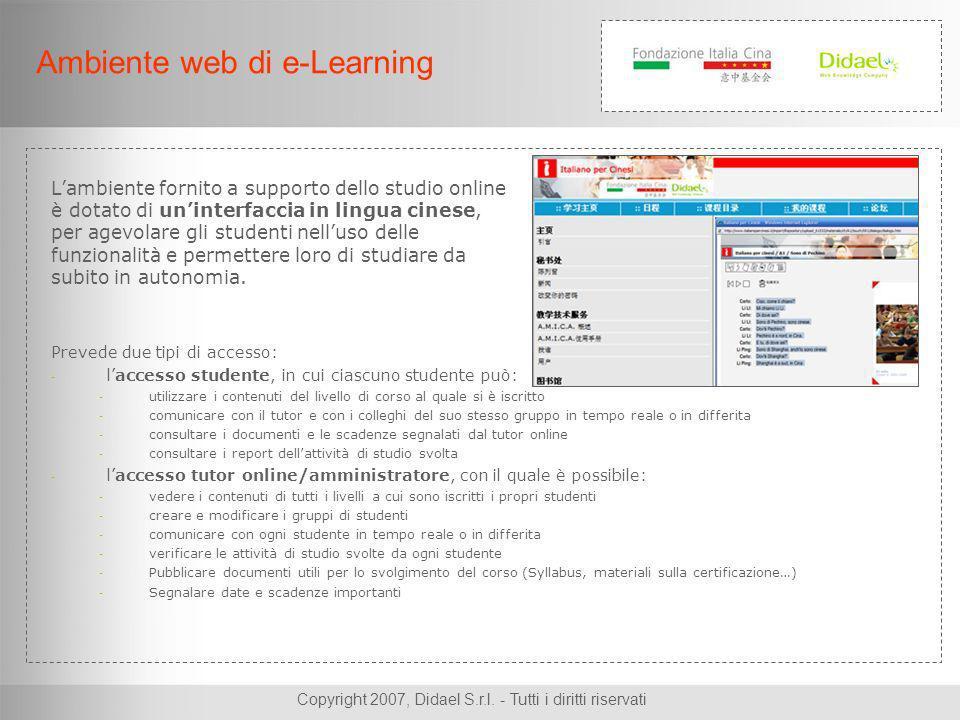 Copyright 2007, Didael S.r.l. - Tutti i diritti riservati Fonetica