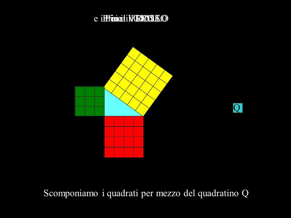 G R V G V R Sistemiamo al loro posto i quadrati
