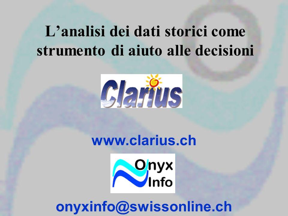 Lanalisi dei dati storici come strumento di aiuto alle decisioniwww.clarius.chonyxinfo@swissonline.ch