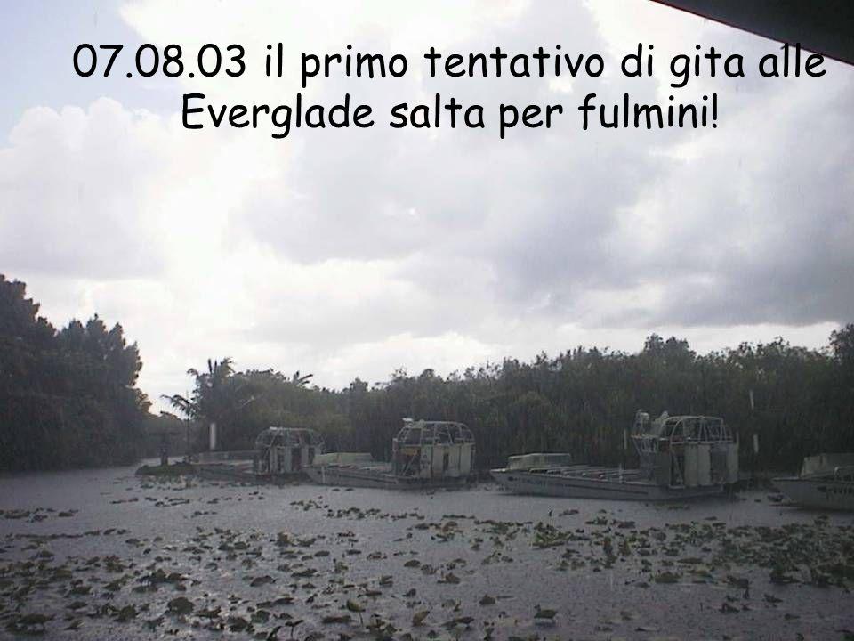 07.08.03 il primo tentativo di gita alle Everglade salta per fulmini!
