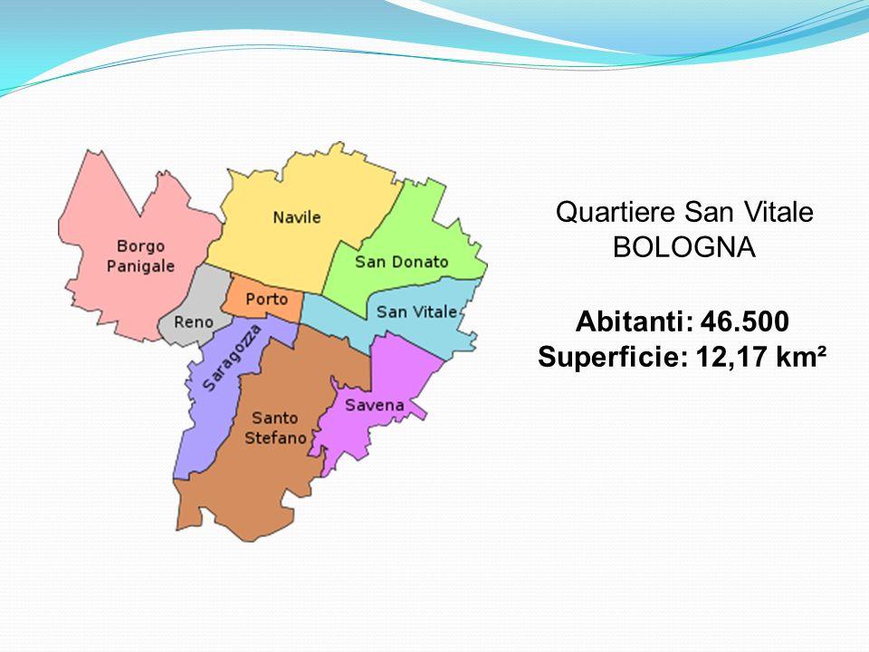 Quartiere San Vitale BOLOGNA Abitanti: 46.500 Superficie: 12,17 km²