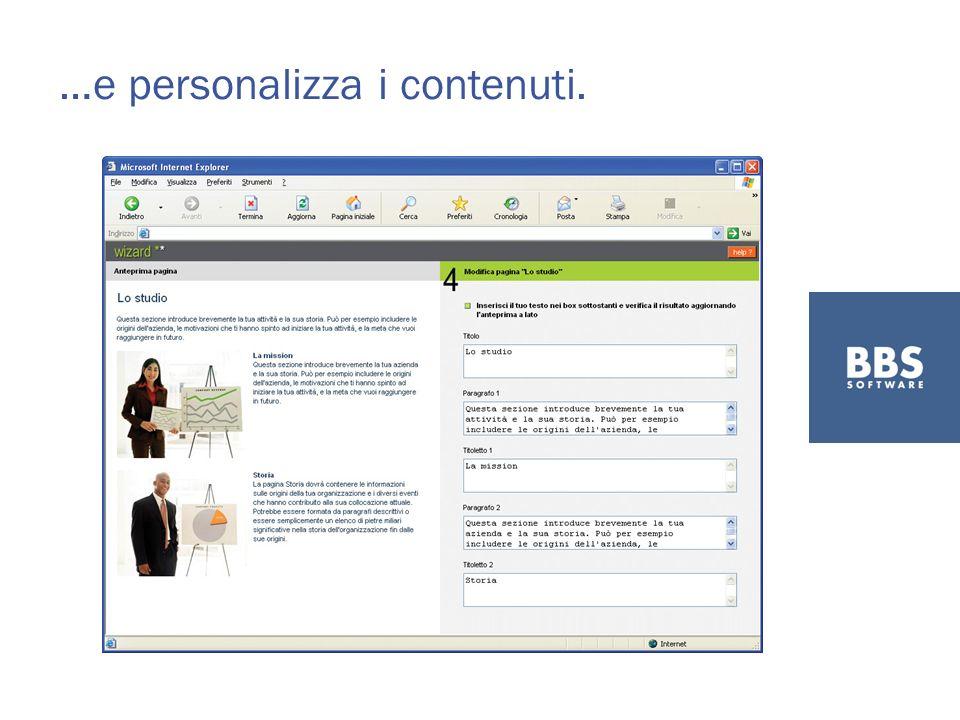 …e personalizza i contenuti.