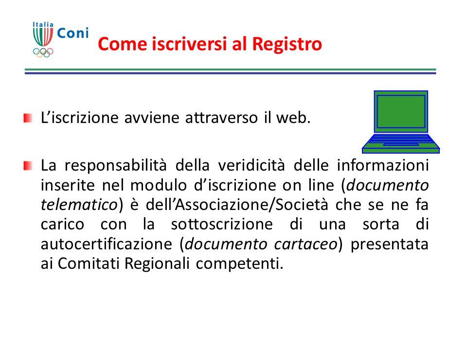 Come iscriversi al Registro Liscrizione avviene attraverso il web. La responsabilità della veridicità delle informazioni inserite nel modulo discrizio