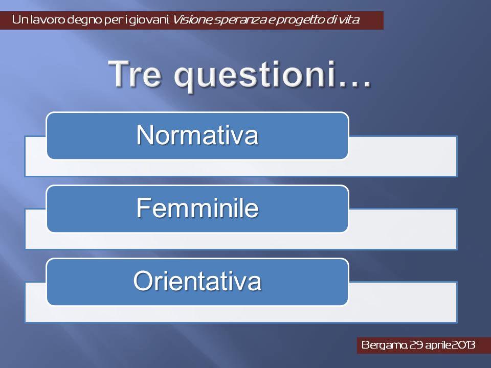 Normativa Femminile Orientativa