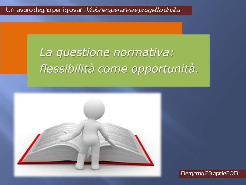 La questione normativa: flessibilità come opportunità.