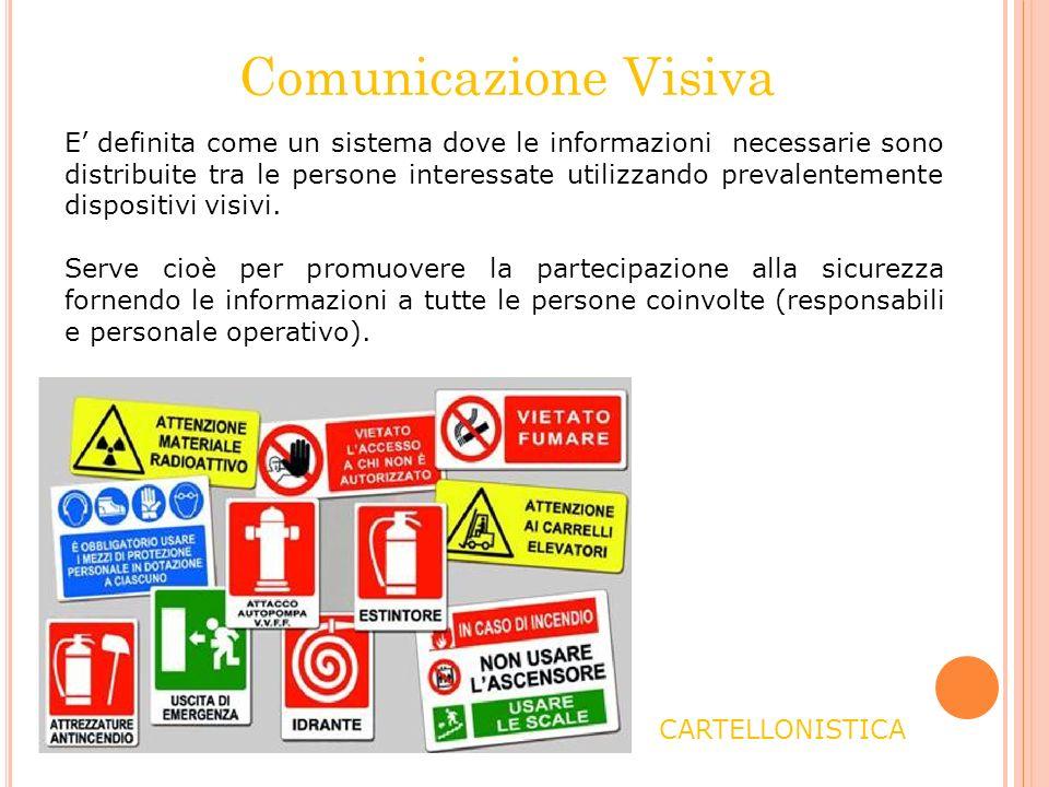 Comunicazione Visiva E definita come un sistema dove le informazioni necessarie sono distribuite tra le persone interessate utilizzando prevalentement