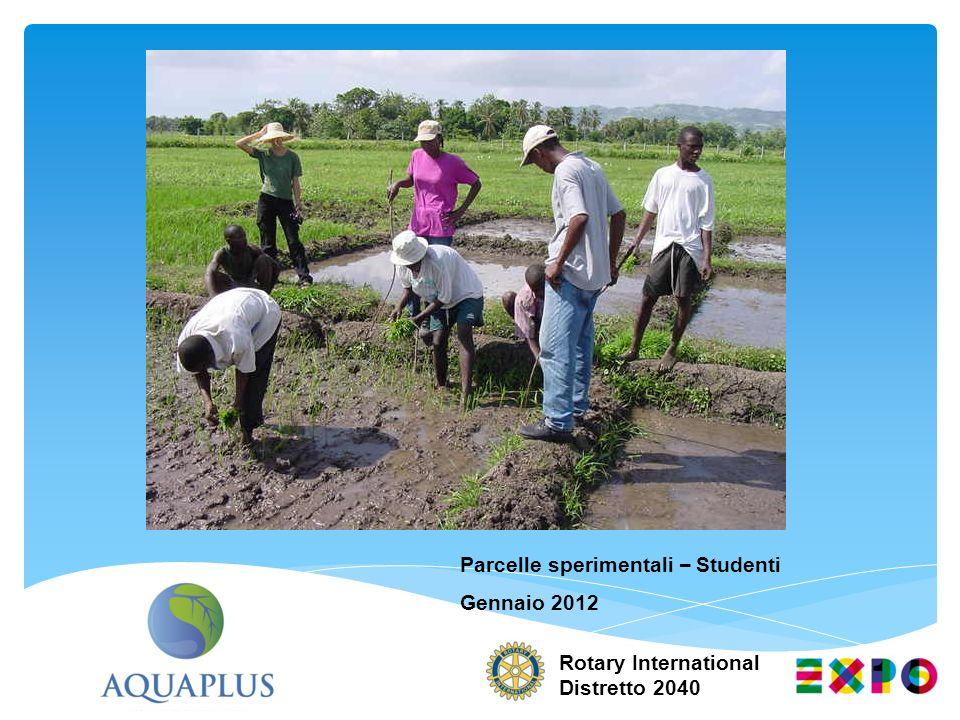 Rotary International Distretto 2040 Parcelle sperimentali – Studenti Gennaio 2012
