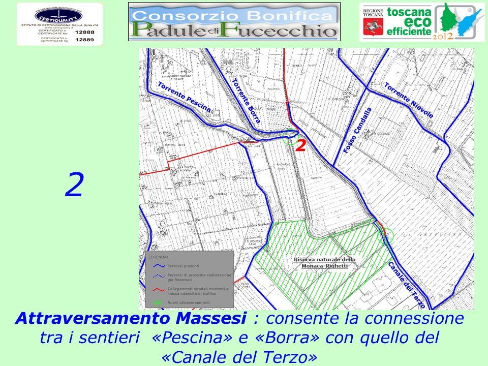 Attraversamento Massesi : consente la connessione tra i sentieri «Pescina» e «Borra» con quello del «Canale del Terzo» 2 2