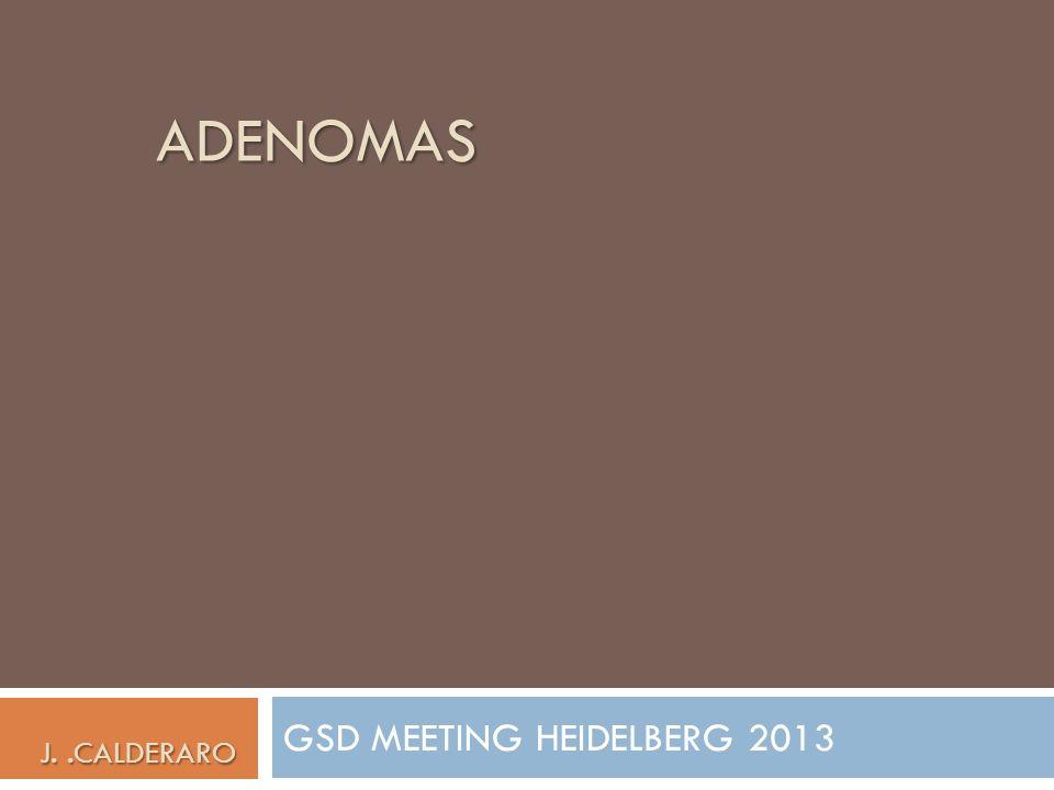 ADENOMAS GSD MEETING HEIDELBERG 2013 J..CALDERARO