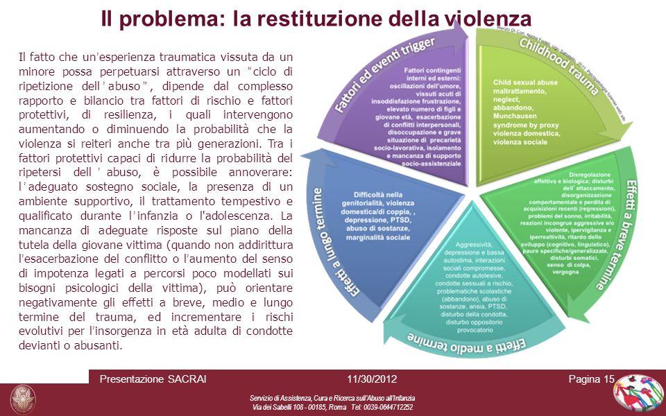 Servizio di Assistenza, Cura e Ricerca sull Abuso all Infanzia Via dei Sabelli 108 - 00185, Roma Tel: 0039-0644712252 Pagina 15 Il fatto che un esperi