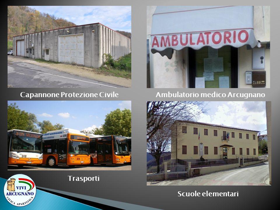 Capannone Protezione Civile Trasporti Ambulatorio medico Arcugnano Scuole elementari