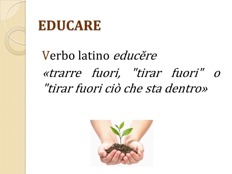 EDUCARE V erbo latino educĕre «trarre fuori,
