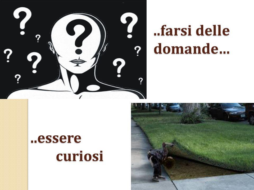 ..farsi delle domande…..essere curiosi