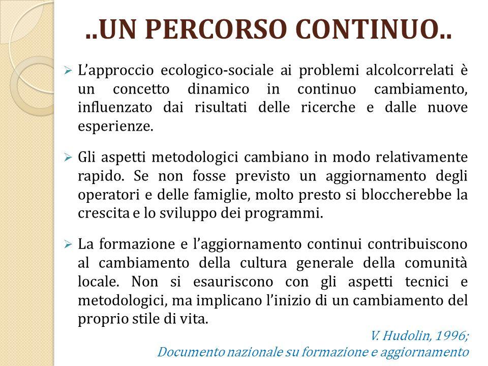 Lapproccio ecologico-sociale ai problemi alcolcorrelati è un concetto dinamico in continuo cambiamento, influenzato dai risultati delle ricerche e dal