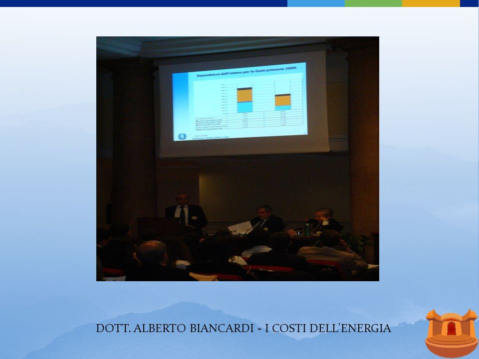 DOTT. ALBERTO BIANCARDI - I COSTI DELL ENERGIA