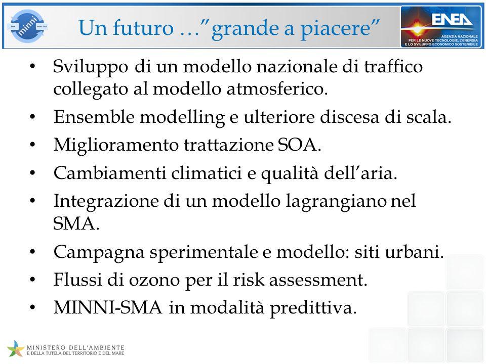 Un futuro …grande a piacere Sviluppo di un modello nazionale di traffico collegato al modello atmosferico. Ensemble modelling e ulteriore discesa di s