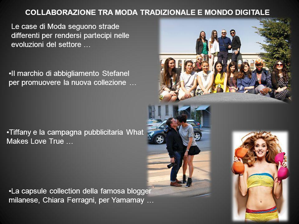 COLLABORAZIONE TRA MODA TRADIZIONALE E MONDO DIGITALE Tiffany e la campagna pubblicitaria What Makes Love True … Il marchio di abbigliamento Stefanel