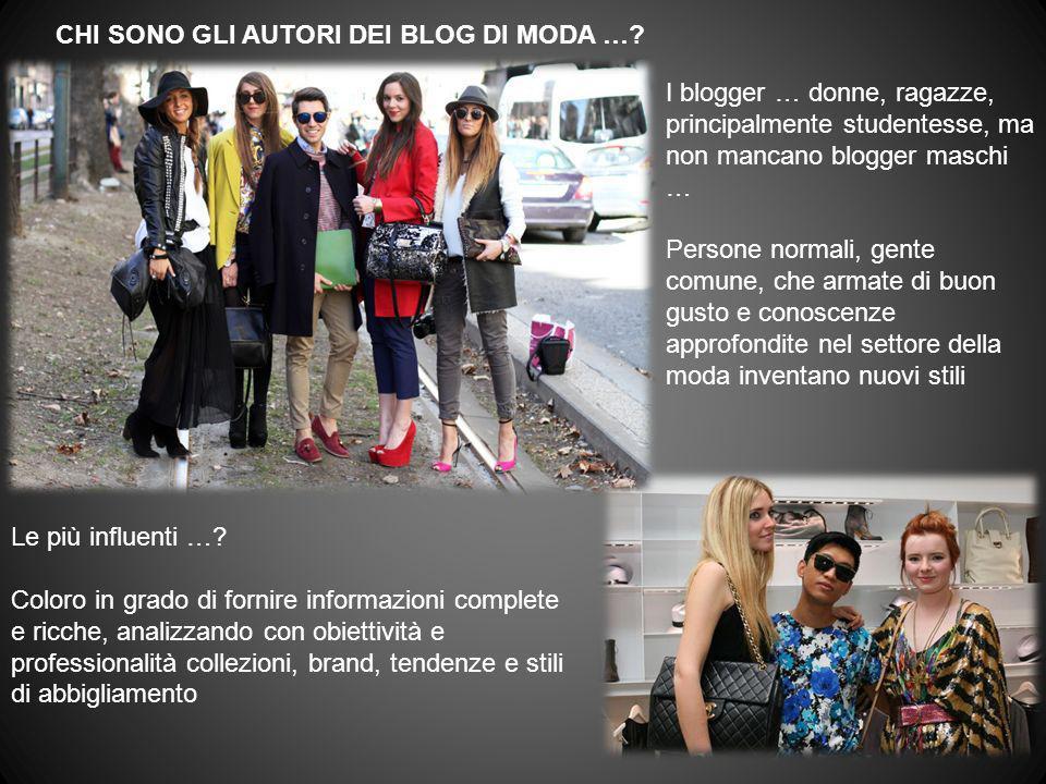 I blogger … donne, ragazze, principalmente studentesse, ma non mancano blogger maschi … Persone normali, gente comune, che armate di buon gusto e cono