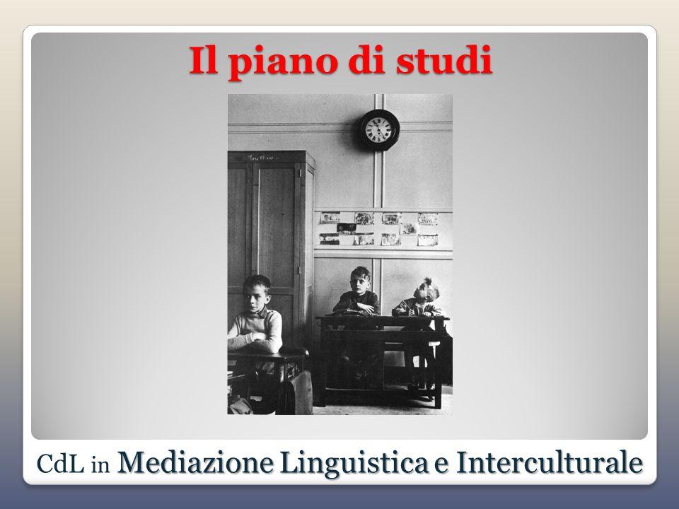 Il piano di studi Mediazione Linguistica e Interculturale CdL in Mediazione Linguistica e Interculturale