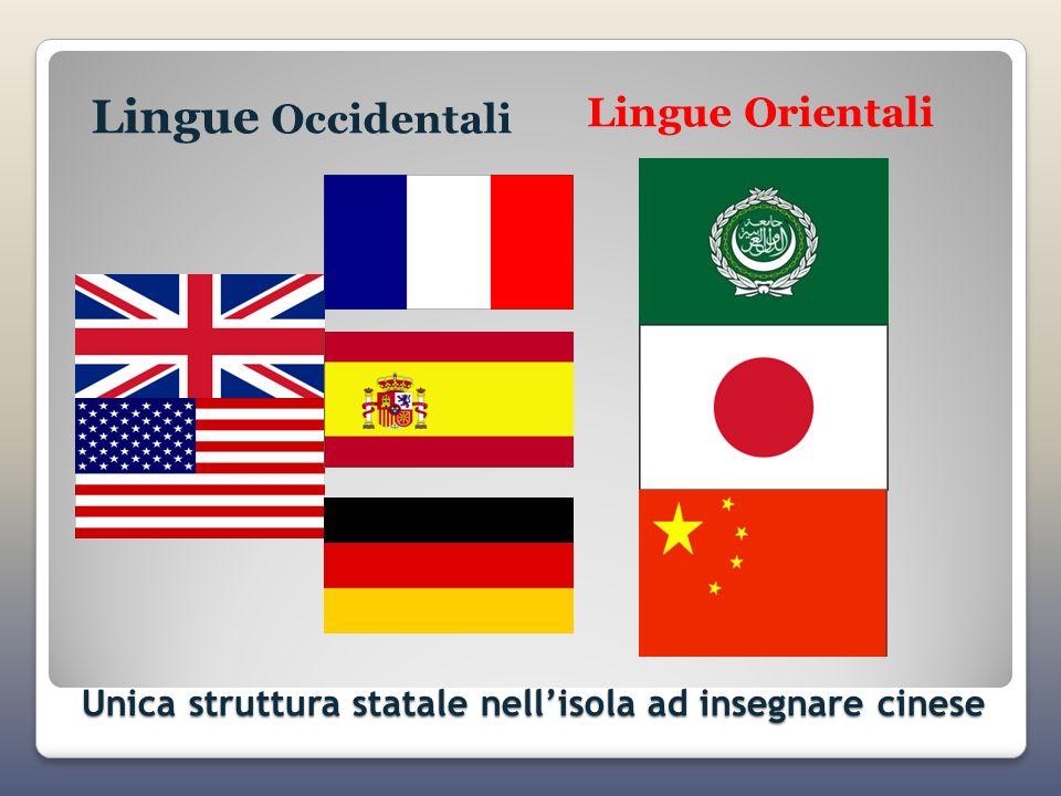 Unica struttura statale nellisola ad insegnare cinese Lingue Occidentali Lingue Orientali
