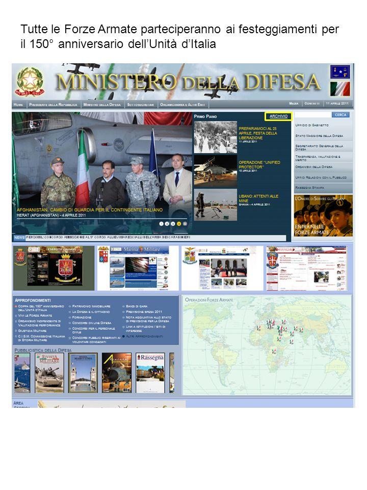 Tutte le Forze Armate parteciperanno ai festeggiamenti per il 150° anniversario dellUnità dItalia
