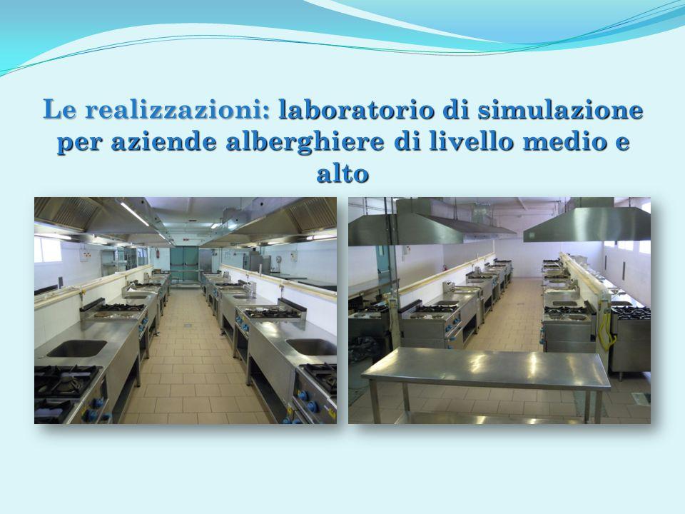 Le realizzazioni: laboratorio di simulazione per aziende alberghiere di livello medio e alto