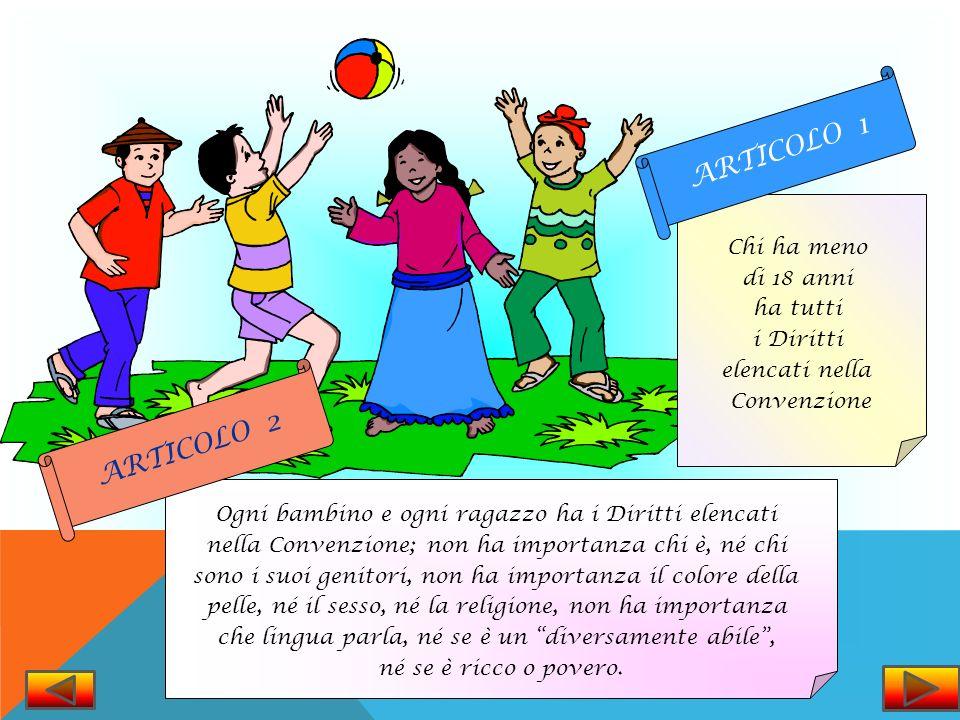 Ciascun articolo della Convenzione spiega i tuoi Diritti. La Convenzione sui Diritti dellInfanzia ha in tutto 54 articoli, ma la maggior parte dei res