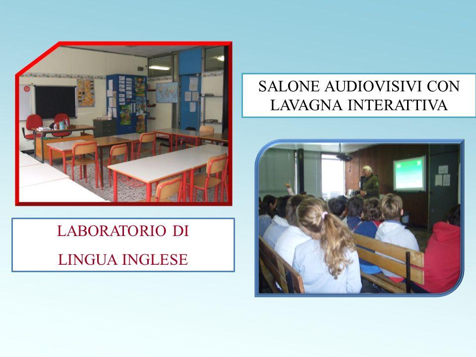 LABORATORIO DI LINGUA INGLESE SALONE AUDIOVISIVI CON LAVAGNA INTERATTIVA