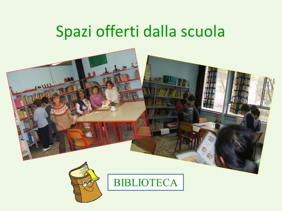 Spazi offerti dalla scuola BIBLIOTECA