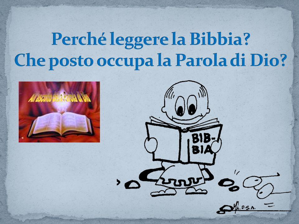 La Bibbia è Parola di Dio (ma la Parola di Dio non è la Bibbia) La Parola di Dio è il parlare di Dio nel senso ampio del suo comunicare e comunicarsi, vale a dire, della sua rivelazione.
