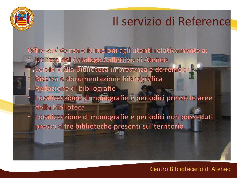 Il servizio di Reference Centro Bibliotecario di Ateneo