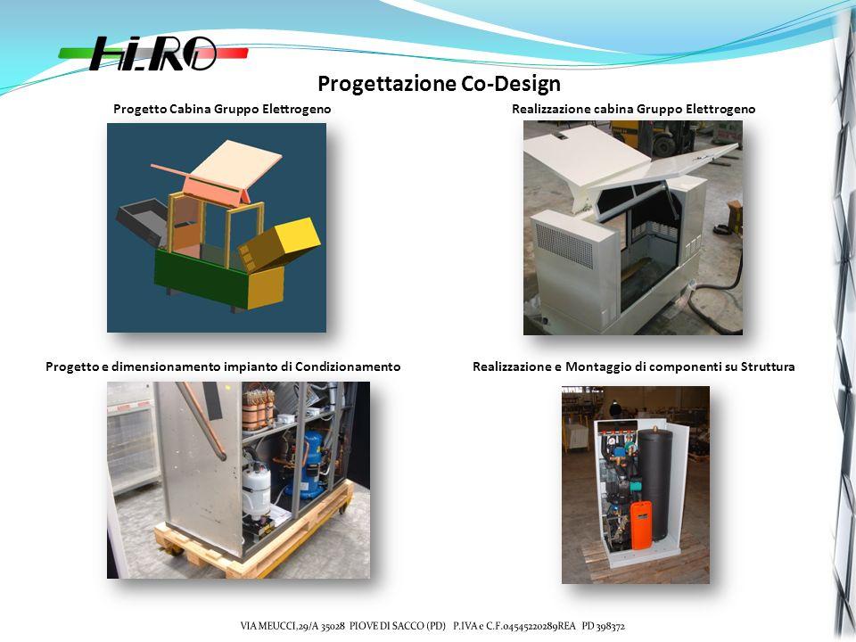 Progettazione Co-Design Progetto Cabina Gruppo ElettrogenoRealizzazione cabina Gruppo Elettrogeno Progetto e dimensionamento impianto di CondizionamentoRealizzazione e Montaggio di componenti su Struttura
