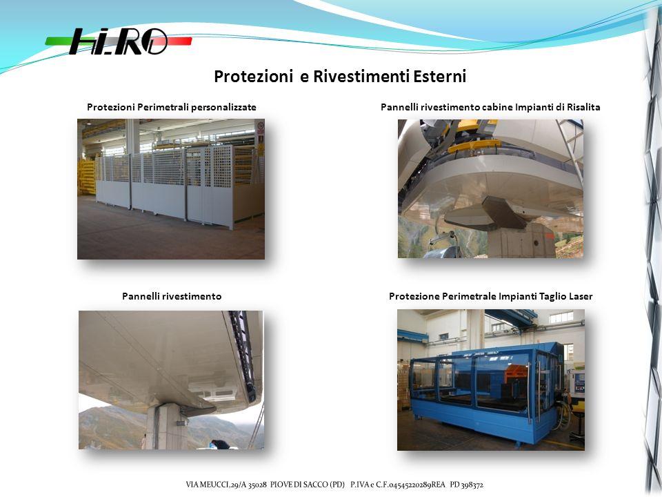 Protezioni e Rivestimenti Esterni Protezioni Perimetrali personalizzatePannelli rivestimento cabine Impianti di Risalita Pannelli rivestimentoProtezio