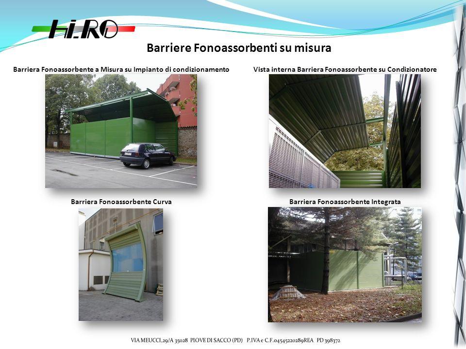 Barriere Fonoassorbenti su misura Barriera Fonoassorbente a Misura su Impianto di condizionamentoVista interna Barriera Fonoassorbente su Condizionato