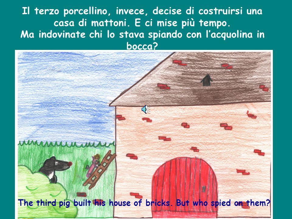 Il secondo porcellino disse: -Io mi farò una casa tutta di legno! Detto fatto e si mise al lavoro. The second pig said: - Ill build a house made of wo