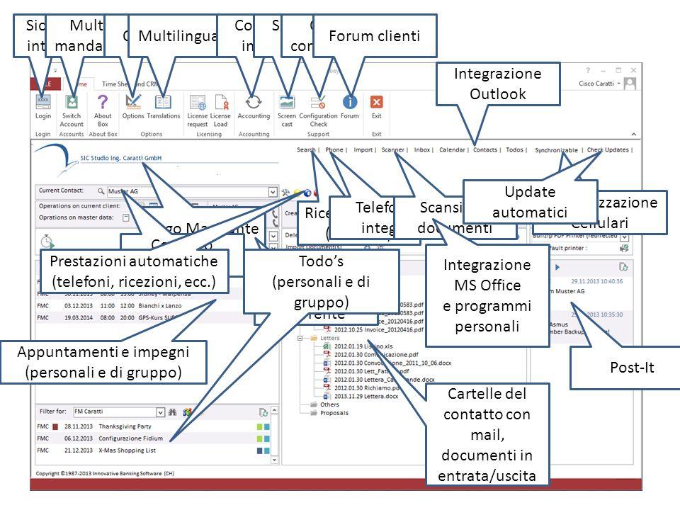 2stepsbeyond.ch Time sheet: protocolla la vostra operatività e memorizza le prestazioni nelle schede clienti automaticamente. Multi-mandante, multi-li