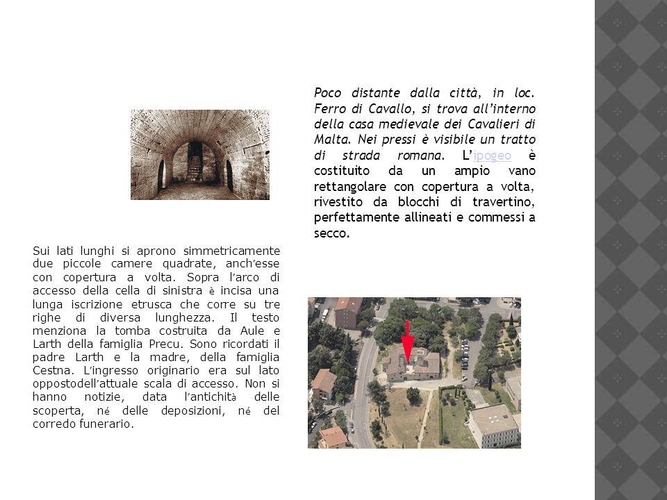 Poco distante dalla città, in loc. Ferro di Cavallo, si trova allinterno della casa medievale dei Cavalieri di Malta. Nei pressi è visibile un tratto