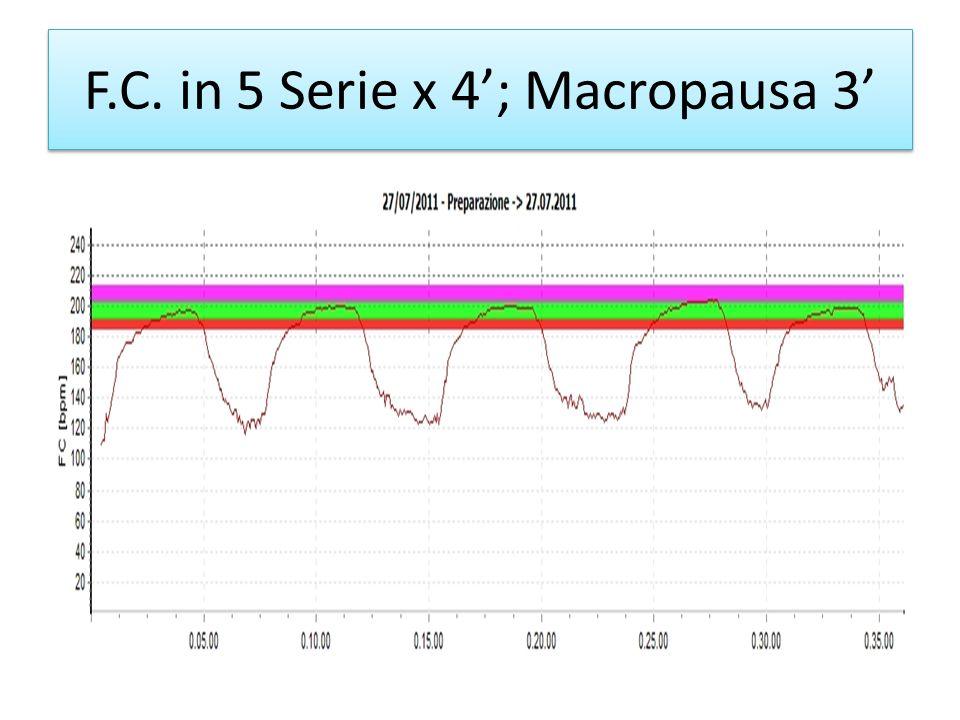 F.C. in 5 Serie x 4; Macropausa 3