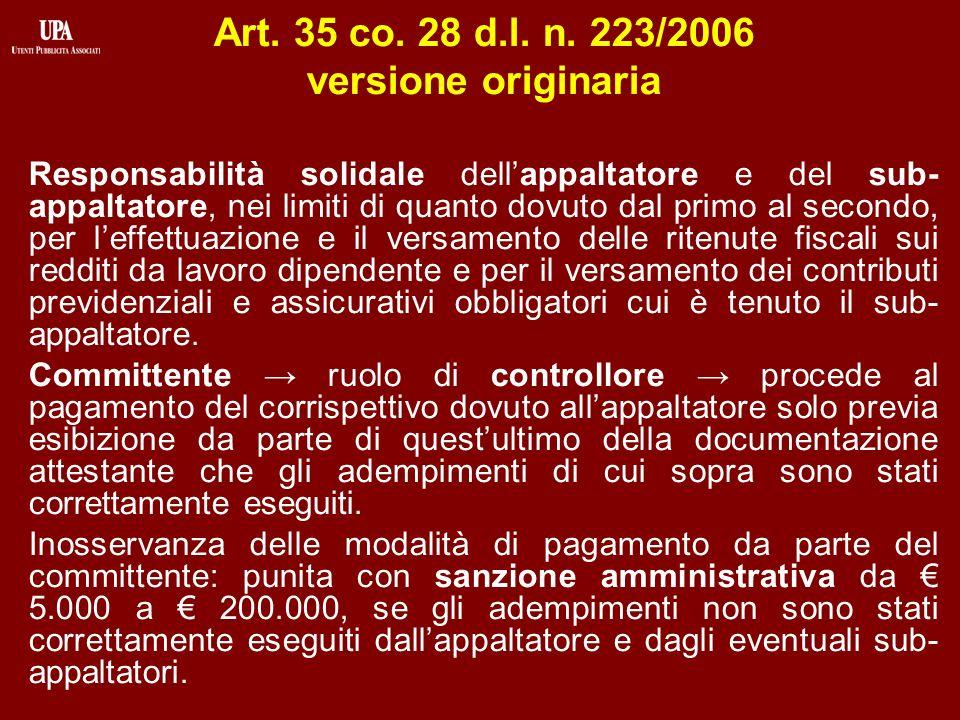 Le modifiche del marzo 2012 D.l.n. 16/2012, convertito con legge n.
